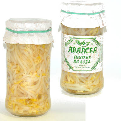 Brotes de soja en tarro de cristal Arancha gourmet