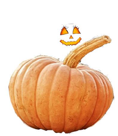 Calazaza grande entera y ojos nariz y boca de calabaza de helloween
