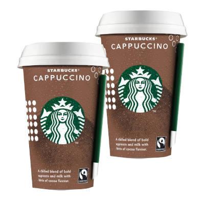 2 vasos de Capuccino Starbucks