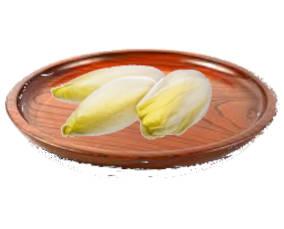 un plato con 3 endibias