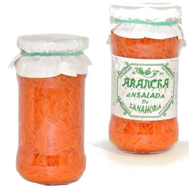 ensalada de zanahoria en tarro de cristal marca arancha