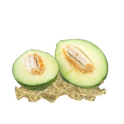 Melon verde cortado a la mitad