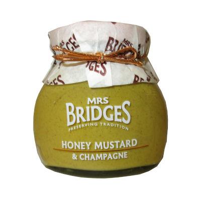 Tarro de cristal de Mostaza miel y champange marca Mrs bridge