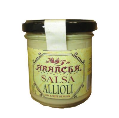 Tarro de cristal con salsa Alioli Arancha