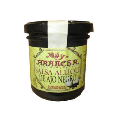 Tarro de cristal de salsa alioli de ajo negro Arancha