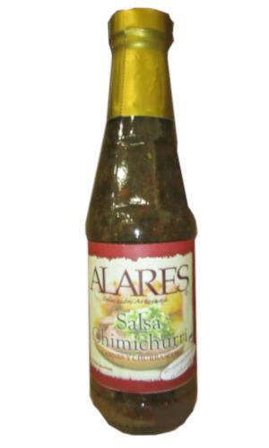 Botella de cristal con salsa Chumichurri