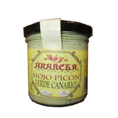 Salsa de Mojo Picon verde canario marca Arancha