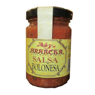 Tarro de cristal con salsa boloñesa marca arancha