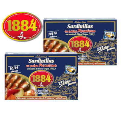 Sardinillas en aceite de la marca 1884