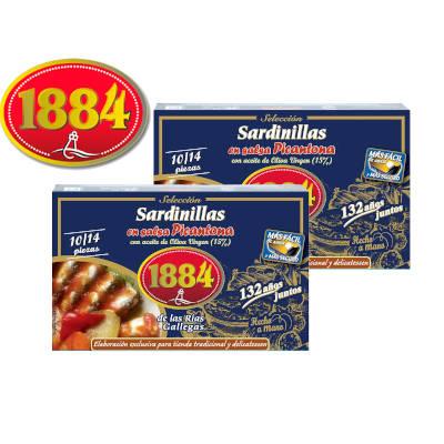 Sardinillas picantes en lata marca 1884