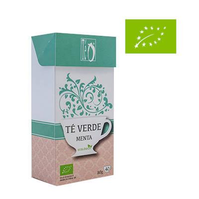 caja de verde menta con logo europeo de producto ecologico