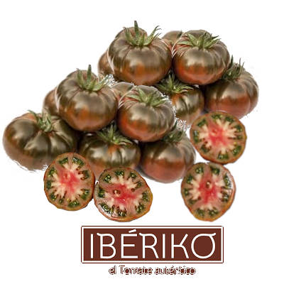 varios tomates iberikos de calidad extray varios tomates variedad ibericos cortados a la mitad