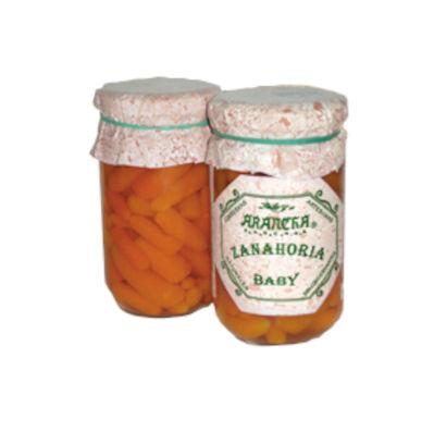 Zanahorias baby naturales en tarro de cristal arancha