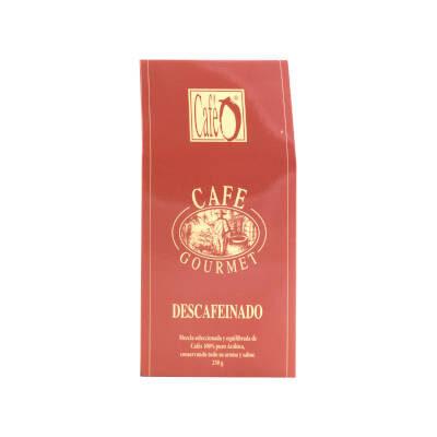 paquete de cafe descafeinado gourmet marca ó