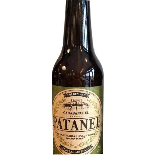 botella de cerveza patanel de carabanchel