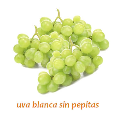 racimo de uva blanca sin pepita