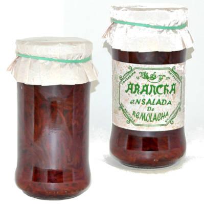 tarros de cristal con ensalada de remolacha Arancha