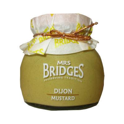 tarro de cristal con mostaza dijon de Mrs bridges