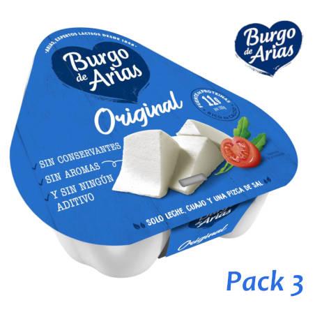 queso burgo de arias pack de 3 porciones de y log de burgo de arias