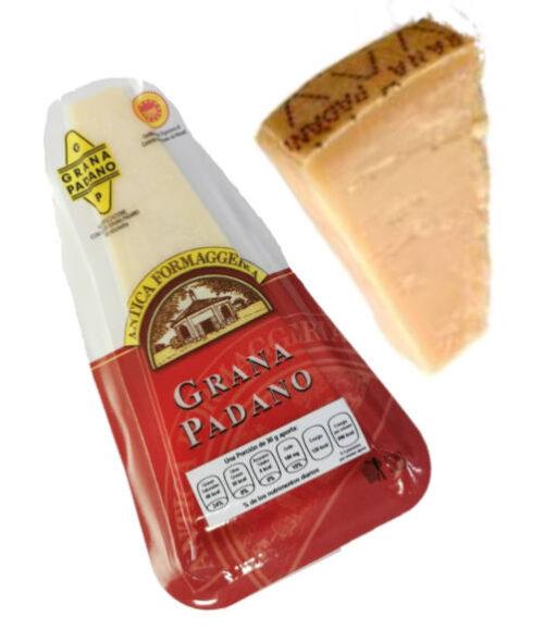 queso grana padano embasado y queso grana padano al natural de la marca