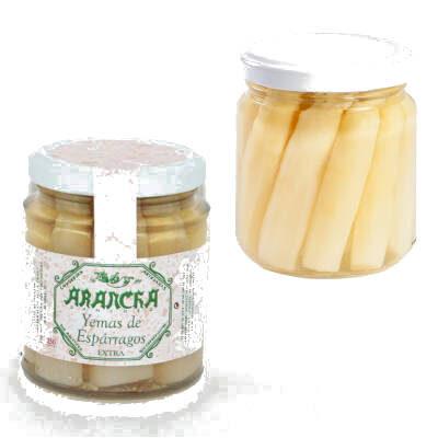 yemas de esparragos blancos extra en tarro de cristal arancha