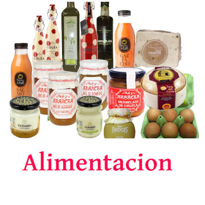 sangria, aceite, vino salmorejo,quesos, mermeladas, mieles, mostaza, huevos,vino, gazpacho, productos de tienda de alimentacion